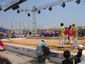Semifinal on the central court at Vieux Port
