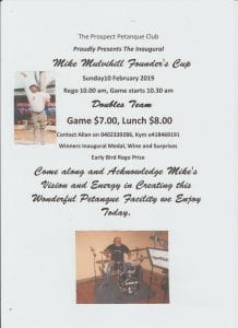 Mike Mulvihill Founders Cup Flyer